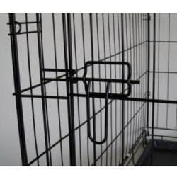 GoPetClub 36-inch 2-door Folding Dog Crate - Thumbnail 1