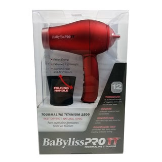 BaBylissPRO Red Tourmaline Travel Hair Dryer