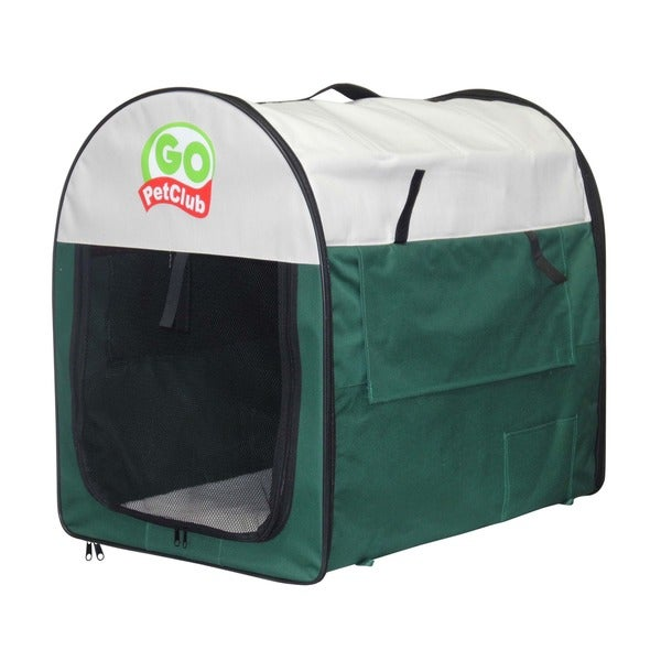 GoPetClub 32-inch Soft Folding Dog Crate