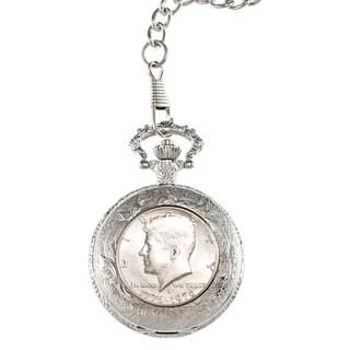 American Coin Treasures JFK Bicentennial Half Dollar Pocket Watch