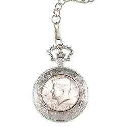 American Coin Treasures JFK Bicentennial Half Dollar Pocket Watch