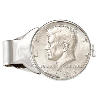 American Coin Treasures Genuine JFK Half Dollar White Metal Money Clip|https://ak1.ostkcdn.com/images/products/5118932/5118932/American-Coin-Treasures-Genuine-JFK-Half-Dollar-White-Metal-Money-Clip-P12968283.jpg?impolicy=medium