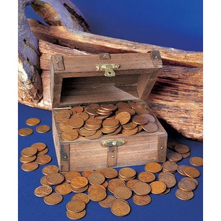 American Coin Treasures Treasure Chest of 1-pound of Lincoln Wheat Ear Pennies