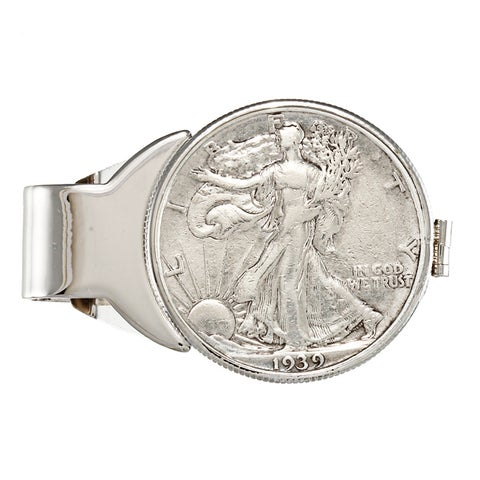 American Coin Treasures Silver Walking Liberty Half Dollar Money Clip with Certificate of Authentici