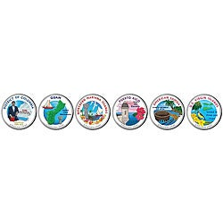 American Coin Treasures Colorized 2009 Washington D C And U S Territories Quarters