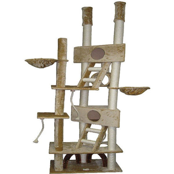 Treehouse Supplies Coupon Code Part - 40: Go Pet Club Huge 106-inch Cat Tree House Scratcher