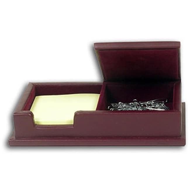 Dacasso Legal Style Burgundy Leather Note/ Paperclip Holder