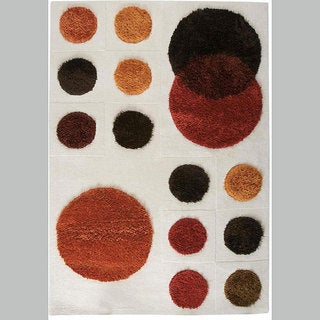 M.A.Trading Hand-tufted Planet Natural Wool Rug (4'6 x 6'6)