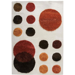 M.A.Trading Hand-tufted Planet Natural Wool Rug (6'6 x 9'9)