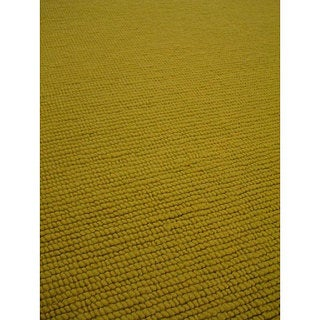 M.A.Trading Hand-knotted Nodo Lime Green Wool Rug (4'6 x 6'6)