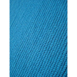 M.A.Trading Hand-knotted Nodo Teal Wool Rug (4'6 x 6'6)