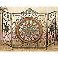 Mediterranean Antiqued Metal Fireplace Screen