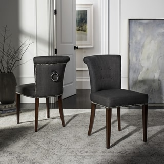 Safavieh En Vogue Dining Carrie Charcoal Grey Dining Chairs (Set of 2)