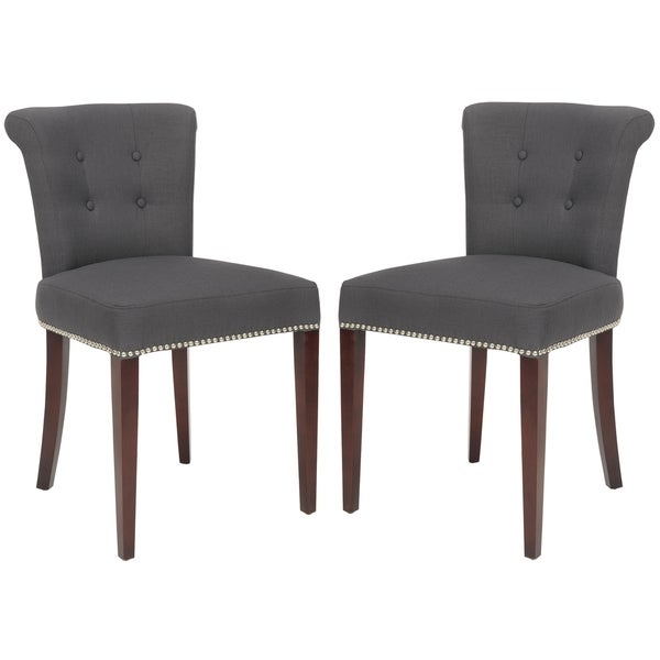 safavieh en vogue dining carrie charcoal grey side chairs set of 2