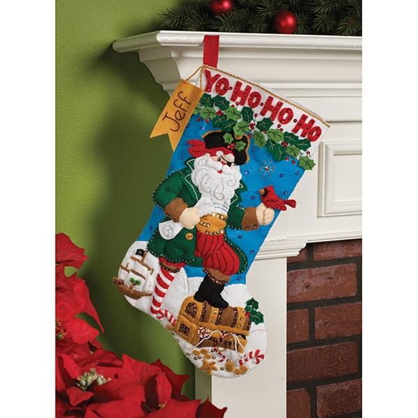 Bucilla 'Pirate Santa' Felt Christmas Stocking Kit