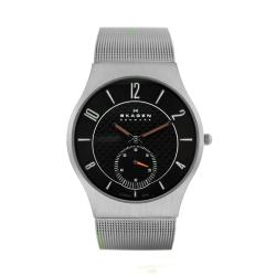 Skagen Men's Grey Titanium and Stainless Steel Watch