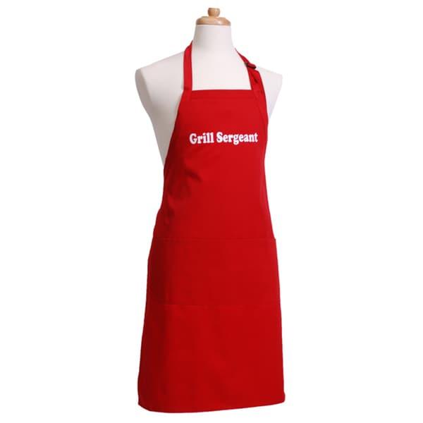 'Grill Sergeant' Men's Flirty Red Apron