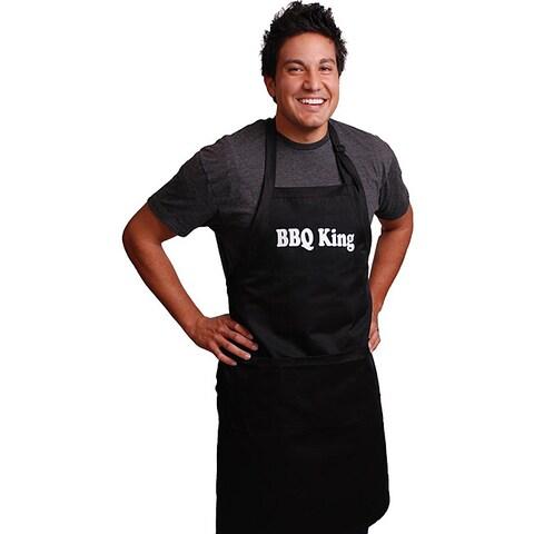 'BBQ King' Men's Black Apron
