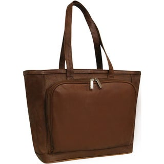 Amerileather Cosmopolitan Leather Zip-Top Tote Bag (4 options available)