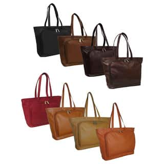 Amerileather Cosmopolitan Leather Zip-Top Tote Bag|https://ak1.ostkcdn.com/images/products/512067/P932447.jpg?impolicy=medium