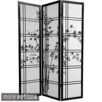 "Handmade Wooden Bamboo Tree Shoji Screen (China) - 72""H x 52.5""L x .75""D"