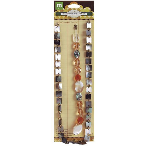 Vintage Groove Mother of Pearl Strand Combo (Pack of 2)