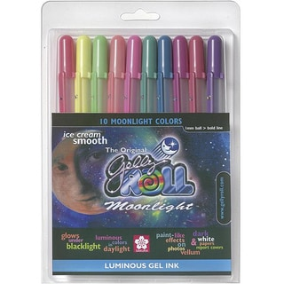 Gelly Roll Permanent Waterproof Bold Moonlight Pens (Pack of 10)