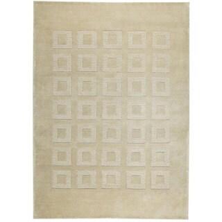 M.A.Trading Hand-knotted Marmara Beige Geometric Wool Rug (6'6 Square)