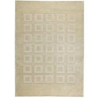 M.A.Trading Hand-knotted Marmara Beige Wool Rug (8'3 x 11'6)