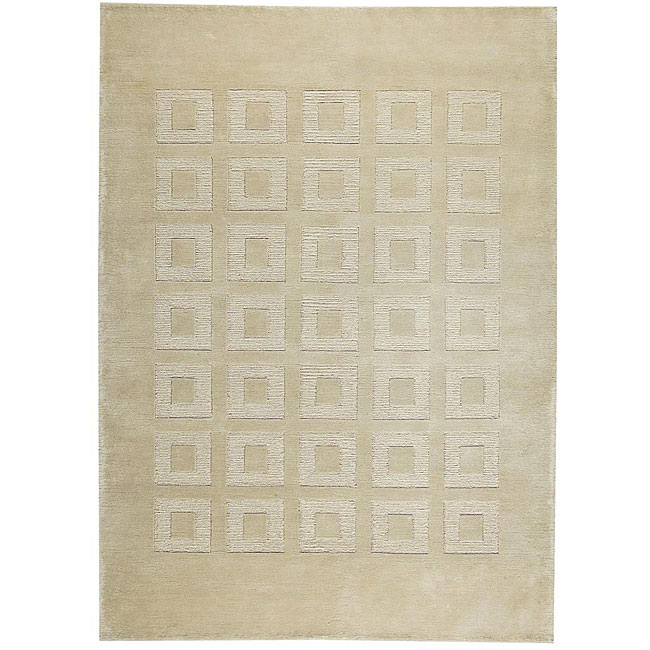 M.A.Trading Hand-knotted Marmara Beige Wool Rug (3' x 5'4)