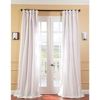 Exclusive Fabrics Signature Cream Faux Silk Taffeta 96-inch Curtain Panel