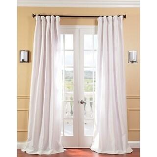 Exclusive Fabrics Signature Cream Faux Silk Taffeta Curtain Panel