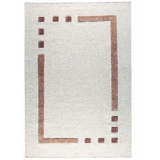M.A.Trading Hand-woven Caracas Border Wool Rug (5'6 x 7'10)