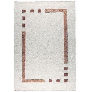 M.A.Trading Hand-woven Caracas Border Wool Rug (5'6 x 7'10)