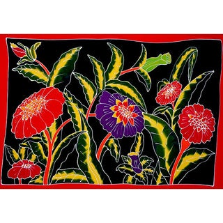 1 World Sarongs Women's Handmade Floral Sarong (Indonesia)