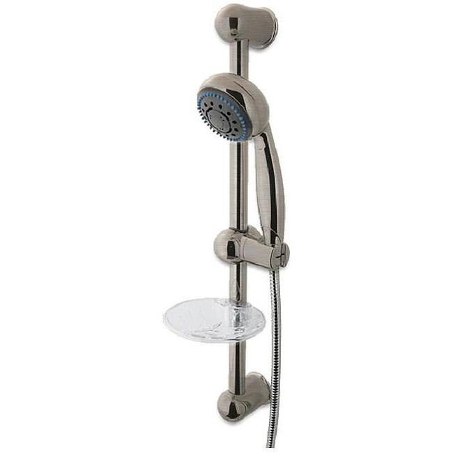 Fontaine Brushed Nickel Adjustable Glide Rail Shower Unit