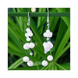 Pearl 'Purity' Waterfall Earrings (Thailand)