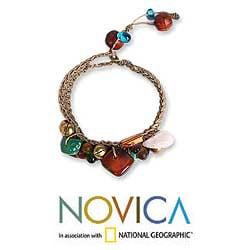 Handmade 'Antique Exuberance' Gemstone Beaded Bracelet (Thailand) - Thumbnail 1