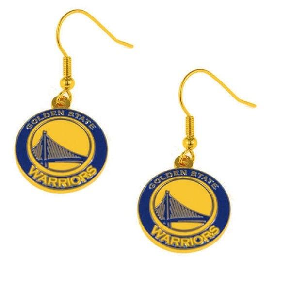 Golden State Warriors NBA Dangle Logo Earring Set