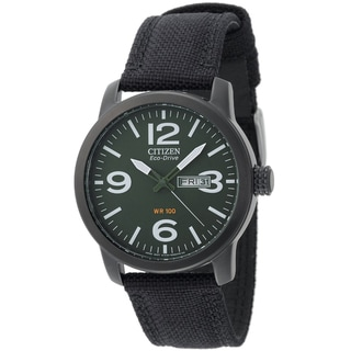 Citizen Men's Eco-Drive Canvas Stainless Steel Watch