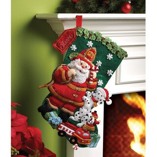 Shop Bucilla Fireman Santa Felt Stocking Kit Free