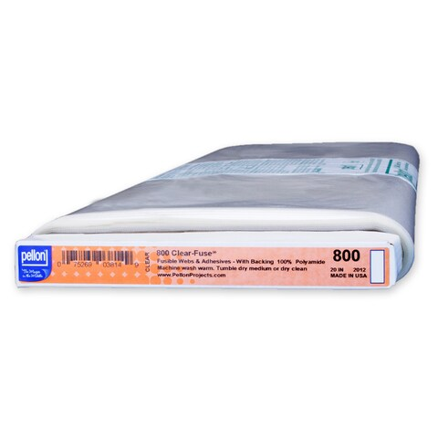 Pellon 800 Clear-Fuse High Adhesive Clear-Backed Fusible Web (20-inch x 10yd)