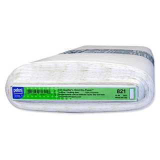 Pellon 821 Quilters Grid On-Point Fusible Non-Woven with 1-inch Grid On-Point (45-inch x 10yd)