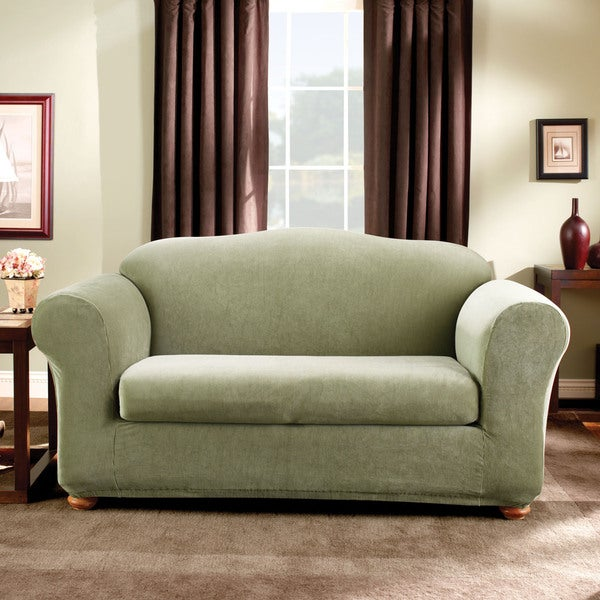 Sure Fit Stretch Stripe 2 Piece Sofa Slipcover 12972309