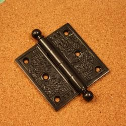 Handcrafted Dark Bronze Solid Brass Decorative Hinges (Pack of Three) - Thumbnail 1