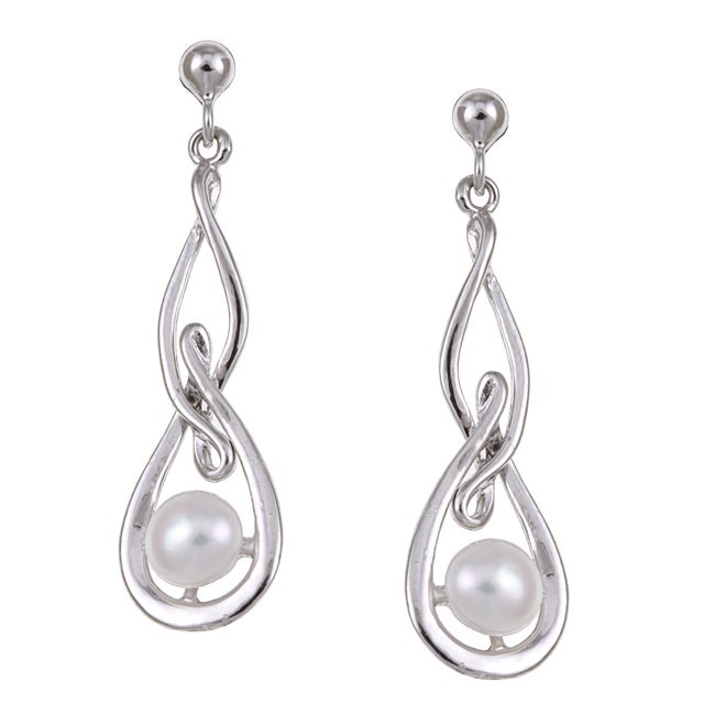 Kabella Sterling Silver Freshwater Pearl Earrings (5-5.5 mm) - Thumbnail 0