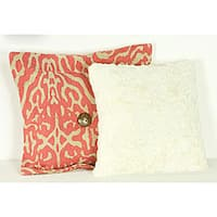 Cotton Tale Raspberry Dot 2-piece Pillow Set