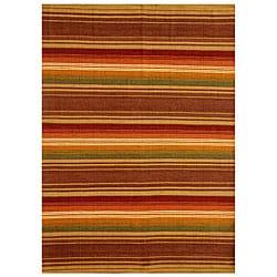Hand-woven Jute/ Cotton Multicolor Rug (5' x 8')