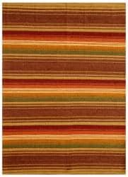 Hand-woven Jute/ Cotton Multicolor Rug (6' x 9')