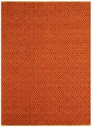 Hand-woven Diamond Red Jute Rug (4' x 6')